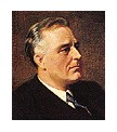 Photo:  Franklin Delano Roosevelt, 32nd President of the United States (died in 4th term in office)