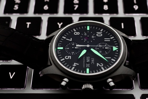 Photo:  IWC Cermaic Double Chrono