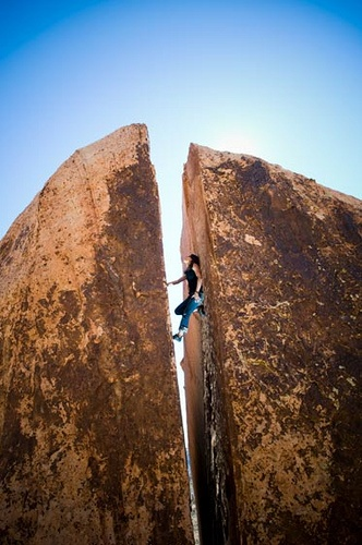 Photo:  chimney route at Red Rocks, NV