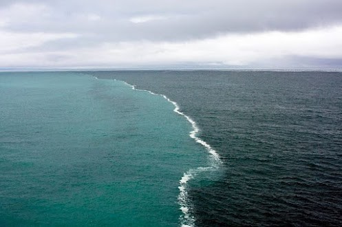 Photo:  Where two oceans meet but do not mix