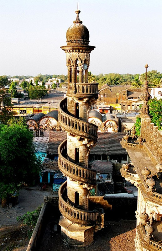 Photo:  Spiral staircase in Mahabat Maqbara, India.