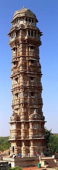Photo:  Tower of Victory, Chittorgarh, Rajasthan, India