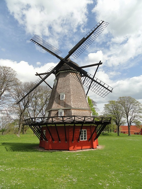 Photo:  copenhagen denmark windmill