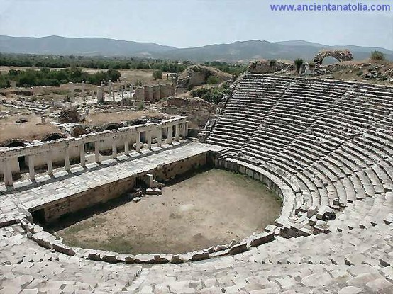 Photo:  Ancient Theater at Aphrodisias, the city of Aphrodite